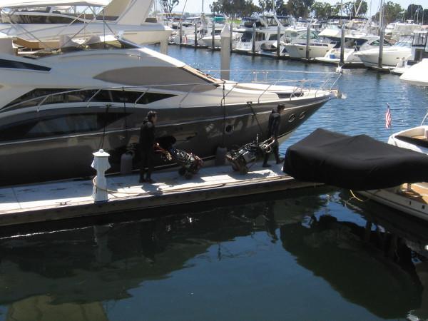 Algae must still be removed from the hulls of boats in the Marriott Marina.