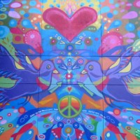 Love and peace in an East Village mural!