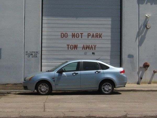 If NOT is not NOT, can one park here?