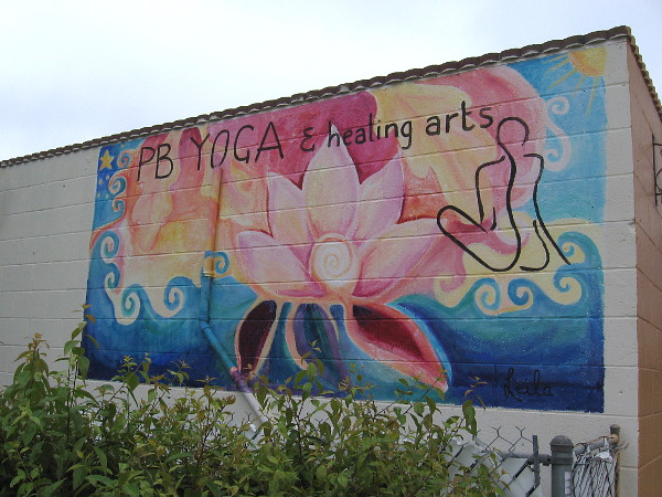 Mural on the side of P.B. Yoga and Healing Arts.