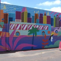 San Diego mural at the Lyft Driver Center.