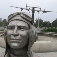 Bust of a San Diego Air Force hero.
