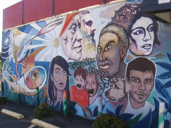 Cosmic Flight, a mural in Golden Hill by San Diego muralist Mario Torero.