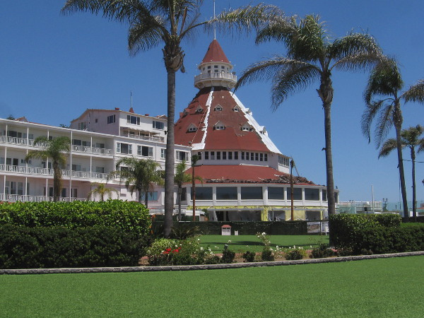 If the Hotel del Coronado looks a bit different in this photo, that's because it's undergoing a big renovation during the pandemic.