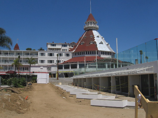 Another look at large scale renovation underway at the world-famous Victorian beach resort.