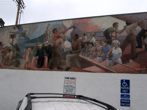 Part of the mural titled San Diego from 1769 to 1969, painted by Jorge Imana. (I took many photos of this amazing mural and will post them to my blog shortly.)