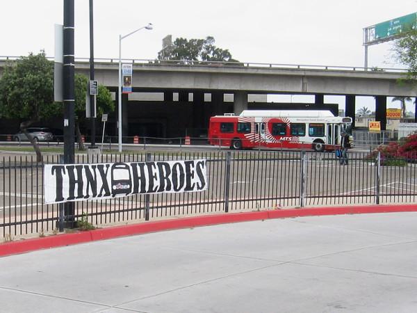 Thanks transit driver heroes.