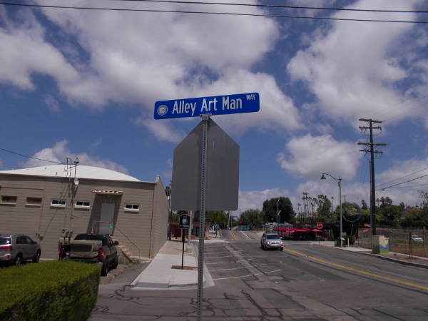 Alley Art Man Way in downtown Vista, California is home to many colorful murals!