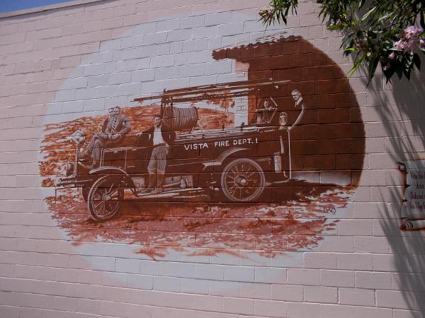 Vista Fire Department 1929, by artist Doug Davis, 2000.