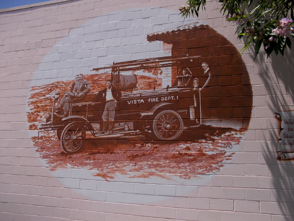 Vista Fire Department 1929, by artist Doug Davis, 2000.