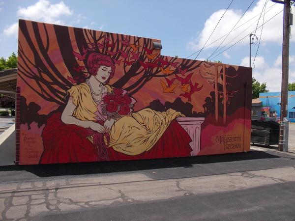 Tribute to Margarita, by artist Daniel Toledo, 2018.