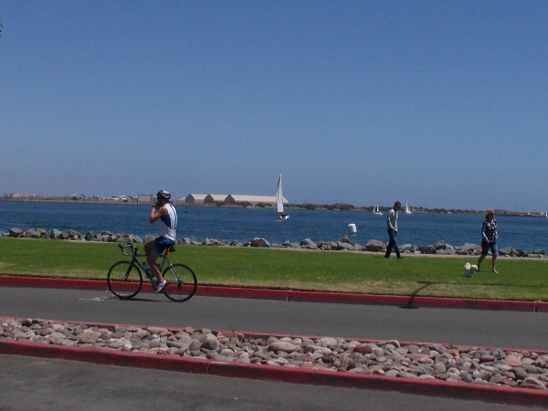 Walking, bicycling, sailing... What could be better?