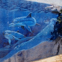 Underwater mural in Silver Strand tunnel!