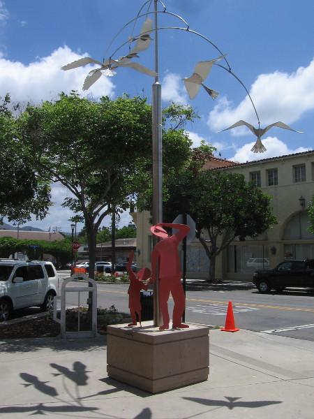 A Flock of Kites, by artist Robert Rochin, 2008.