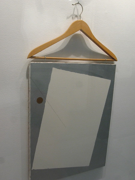 Painting with Coat Hanger, John Armleder, 1984.
