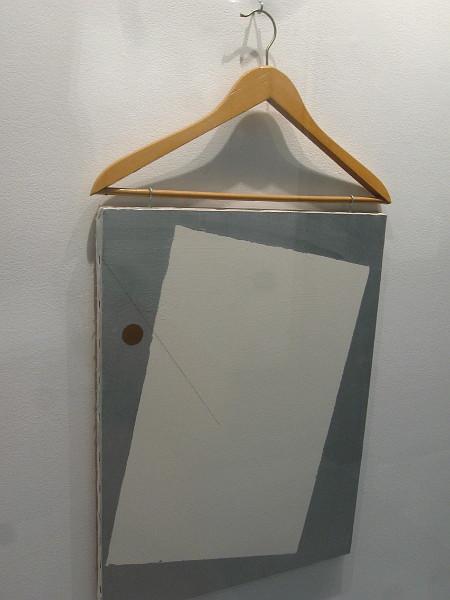 Painting with Coat Hanger, John Armleder, 1984.
