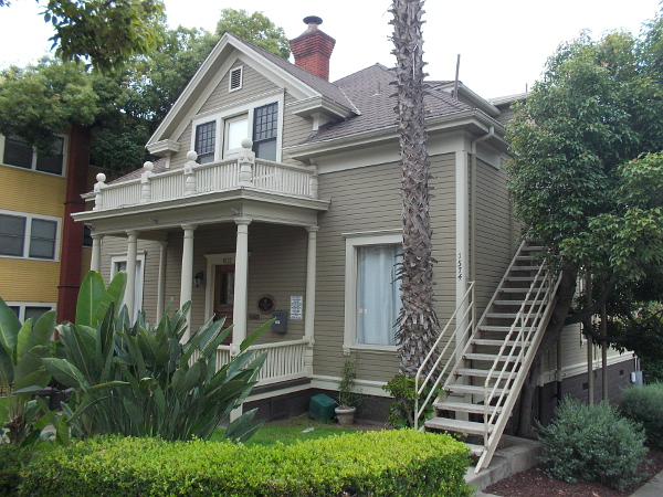 The old Anton Mayrhofer Residence, located at 2nd Avenue and Cedar Street. The small Victorian house has been designated City of San Diego Historical Landmark no. 299. Anton Mayrhofer was born in Austria in 1856.