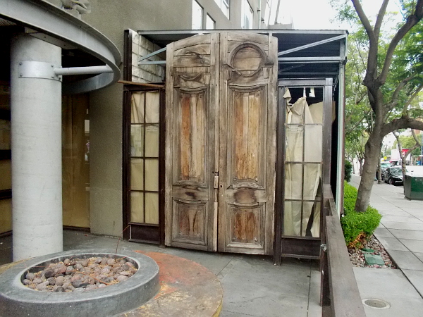 Those huge wooden doors at the now permanently closed Indigo Grill.