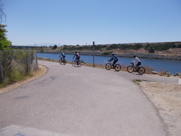 About to find myself on the Sweetwater River Bikeway.