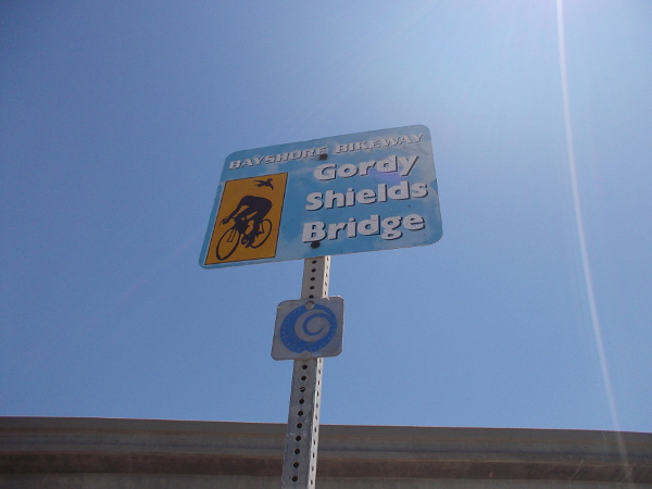 The Gordy Shields Bridge is dedicated to a civic leader who advocated for bicycling.
