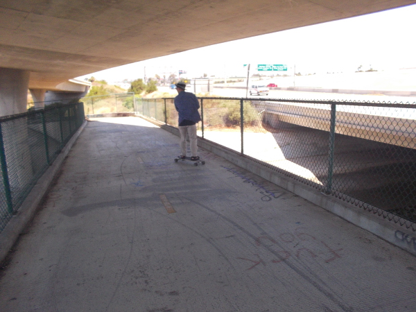 A guy on a skateboard passed me.