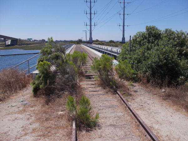 These old train tracks pass south over the Sweetwater River on a bridge that is no longer in use.