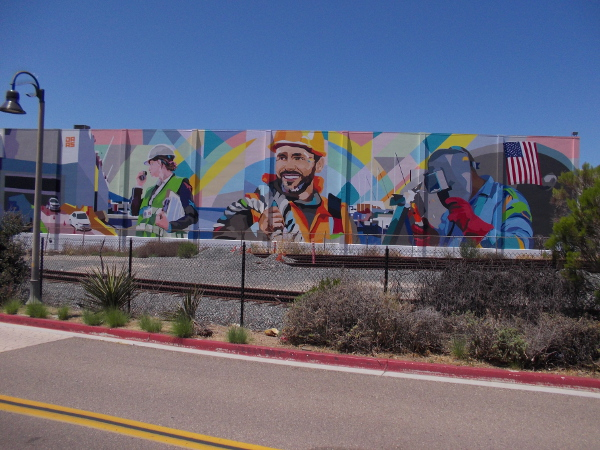 The Working Waterfront, by muralist DAAS, in National City, California.