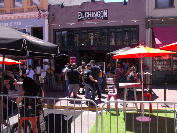 El Chingon always seems a popular destination in the Gaslamp.