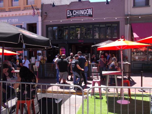 El Chingon always seems a popular destination in the Gaslamp.
