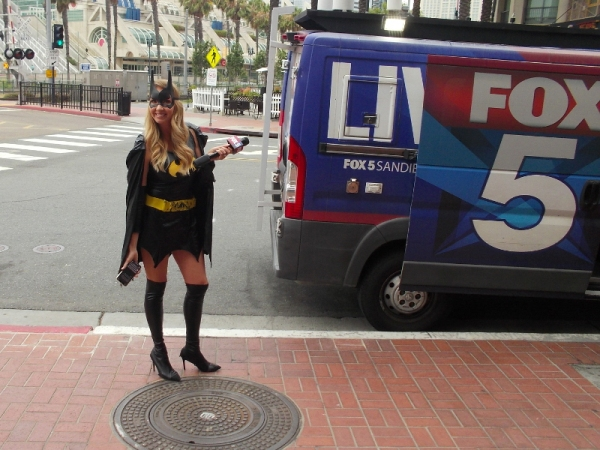 Is that Batgirl or a reporter for the local Fox TV news station?