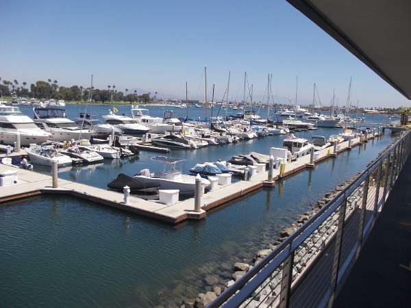 Looking southeast across beautiful Glorietta Bay Marina in Coronado.