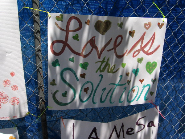 Love is the solution.