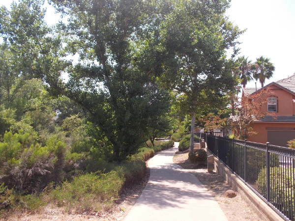 Starting west from Cuyamaca Street on the north side of the river.