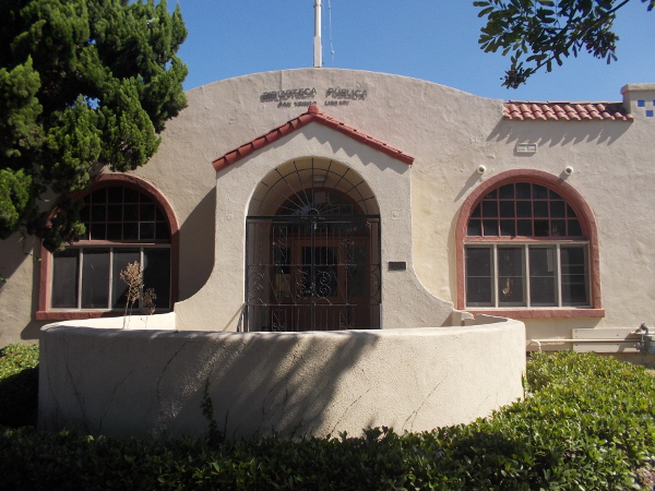 Front of the original San Ysidro Library, built in 1924.