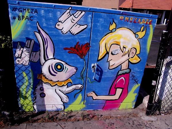Street art in San Ysidro by Gerardo Meza.