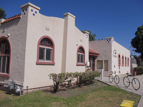 View of east side of the original San Ysidro Library.