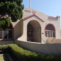 Photos of original, historic San Ysidro Library.