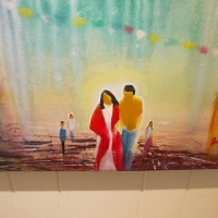Painter creates vivid dreams in Balboa Park.