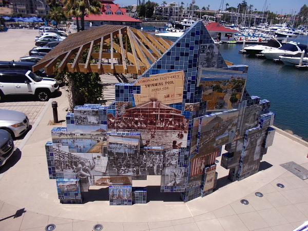To the north you can see Coronado public art titled Imagine Tent City.