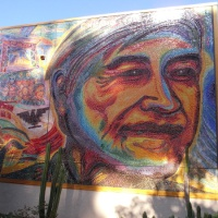 Photos of Chicano Legacy mural at UCSD.