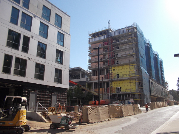 To the north of John Muir College, multiple large buildings will be finished in the near future.