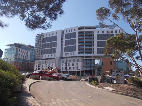Part of UCSD's large expansion near North Torrey Pines Road.