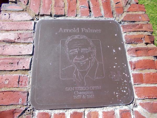 Arnold Palmer, San Diego Open Champion 1957, 1961.