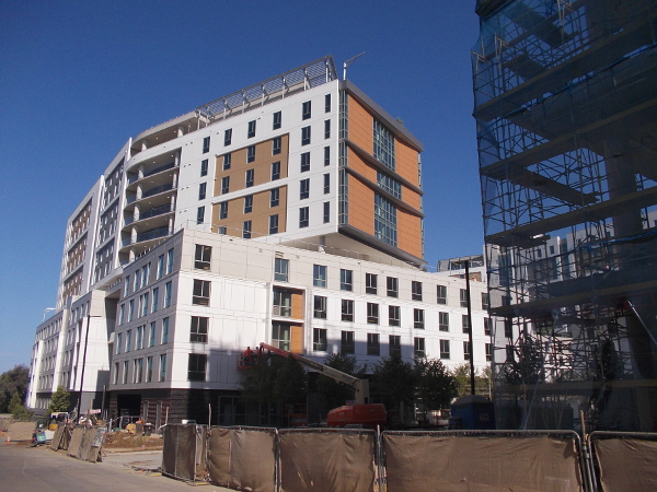 A student dorm building that will be finished in a matter of two weeks. Time marches forward.