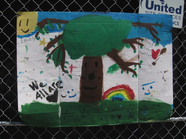 Hopeful images painted by a young person.