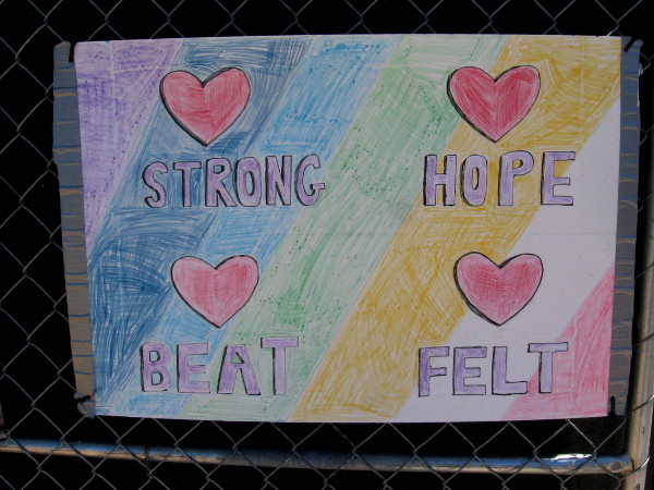 Strong. Hope. Heartbeat. Heartfelt.