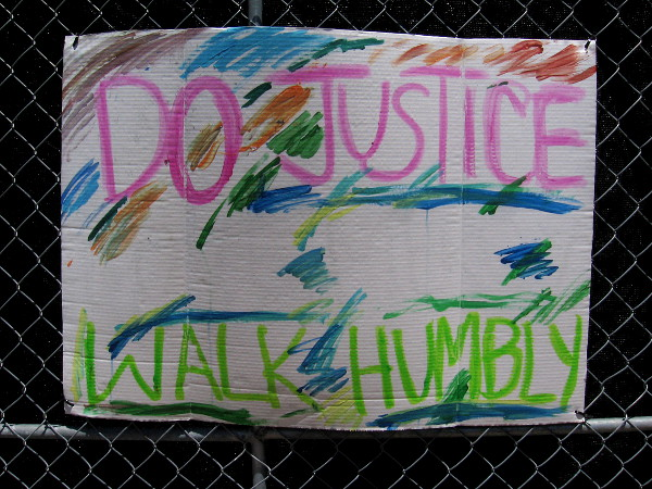 Do justice. Walk humbly.