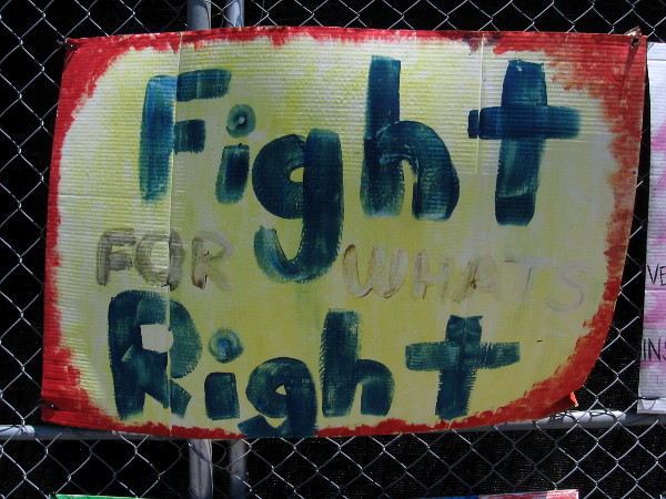 Fight for what's right.