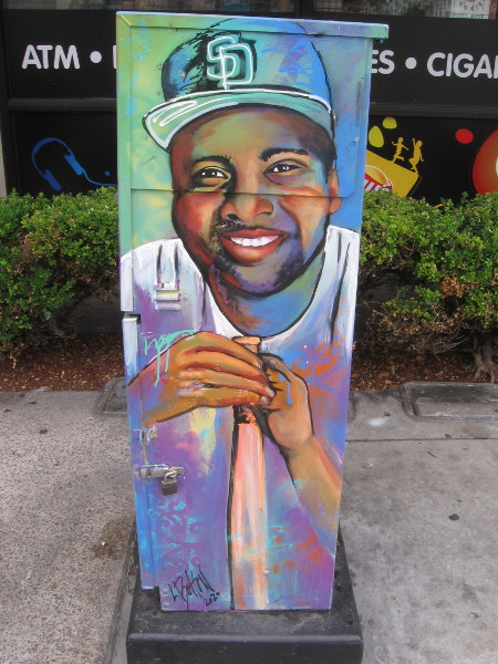 San Diego Padres hero Tony Gwynn, painted as street art not far from Petco Park.