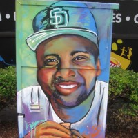Tony Gwynn street art in East Village!